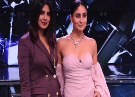 VIDEO- Priyanka Chopra, Kareena Kapoor have a 'kiss off', groove to 'Aaj Ki Raat'