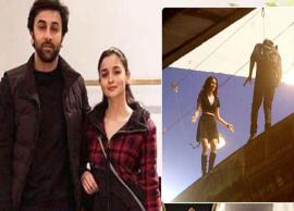Brahmastra Actors Ranbir and Alia Performing Stunts From Sets are Out