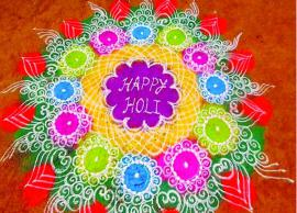 Holi Special- 5 Amazing Rangoli To Try This Holi-Photo Gallery