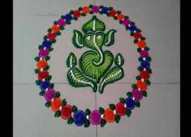 Ganesh Chaturthi 2019- 5 Simple Ganpati rangoli designs to enhance your festive decoration-Photo Gallery