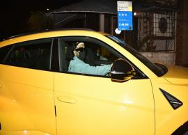 Bollywood actor Ranveer Singh borrows Rohit Shetty's Rs 3 crore bright yellow Lamborghini Urus for a ride on Mumbai streets