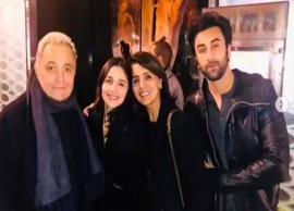 Family Frame! Alia Bhatt is all smiles alongside beau Ranbir Kapoor and his family