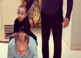 VIDEO-Salim Khan Giving a Horseback Ride To Ahil Will Melt Your Heart