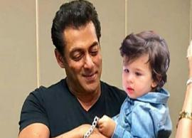 PIC- Taimur in Salman Khan Arm Will Make Your Day