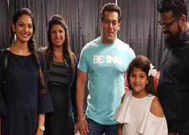 PICS- Salman Khan meets 90s co-star Rambha during DaBangg tour in Canada