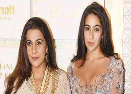 PICS- Sara Ali Khan Twins With Mother Amrita Singh For Diwali Party