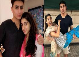 PICS- Sara Ali Khan Is Going Crazy Over Brother Ibrahim's Abs