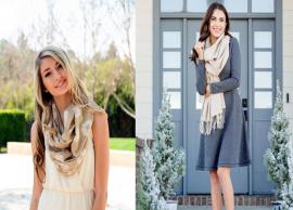 5 Stylish Ways To Drape Your Scarf