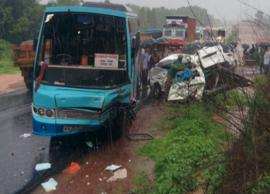 School Van-Bus Collision in Madhya Pradesh Lead To Death of 7 Children and Driver