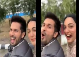 VIDEO- Shahid Kapoor, Kiara Advani enjoy bike ride in chilly weather of Delhi