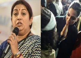VIDEO- Smriti Irani takes a dig at Deepika over Her Freedom To Stand With Tukde Tukde Gang