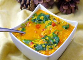 Valentines Day Recipe- Make You Day Healthy and Special With Vegan Lentils and Spinach Soup