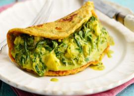 Recipe- Kids Favorite Spinach Paneer Omelette