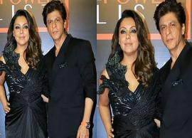 VIDEO- Shah Rukh Khan wins 'husband of the year' by being chivalrous to his 'Queen' Gauri