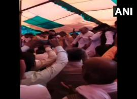 Video- Stage Collapses During BJP Holi Milan Event in Uttar Pradesh