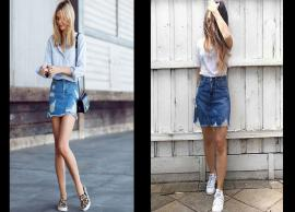 5 Ways To Style Your Denim Skirt