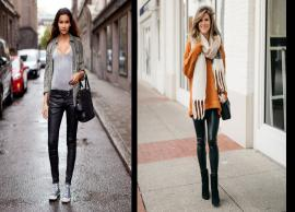 6 Ways To Style Leather Pants During Winters