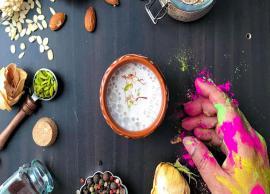 Holi Recipe- Thandai To Make Holi Fun