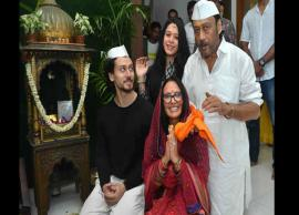 Ganesh Chaturthi 2018- Tiger Shroff Welcomed Ganpati With Whole Family
