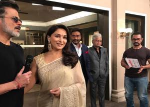 PHOTOS 'टोटल धमाल' के मुहुर्त में पहुंचे आमिर, अजय देवगन, अनिल कपूर और माधुरी दीक्षित ने शुरू की फिल्म की शूटिंग-Photo Gallery