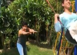 VIDEO- Varun Dhawan and Sara Ali Khan Seen Enjoying Rides in Park