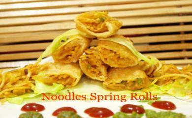 How to make Noodles Spring Rolls