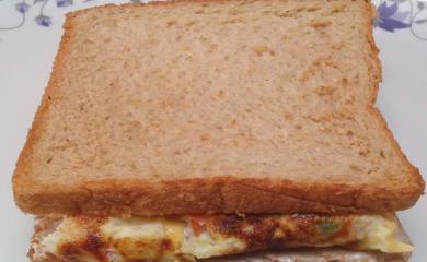 Bread Omelet sandwich Recipe