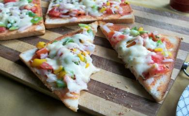 Bread Pizza Recipe