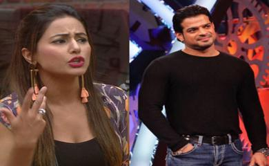 Bigg Boss 11- Hina Khan Challenges Karan Patel and Shuts His Mouth
