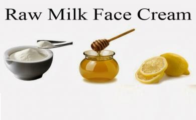 Home-made Raw Milk Face Cream To Make Your Skin Shiner