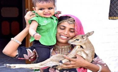 Women of This Village Breastfeed Baby of Deer