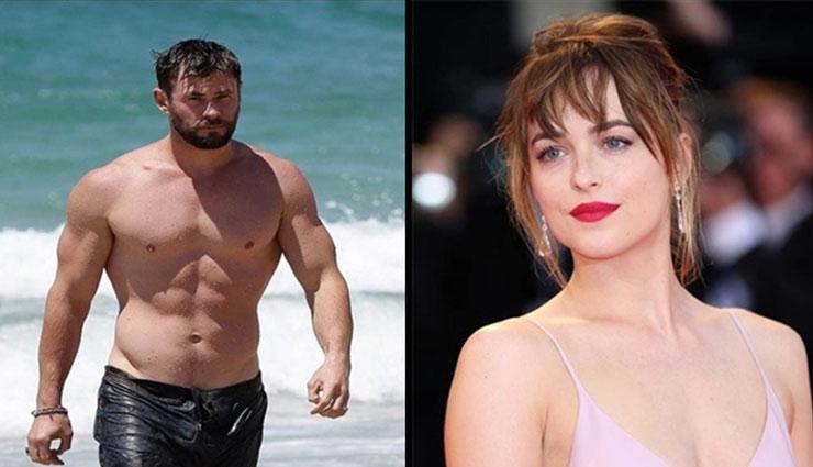 Chris Hemsworth's ripped body was a distraction, admits Dakota Johnson