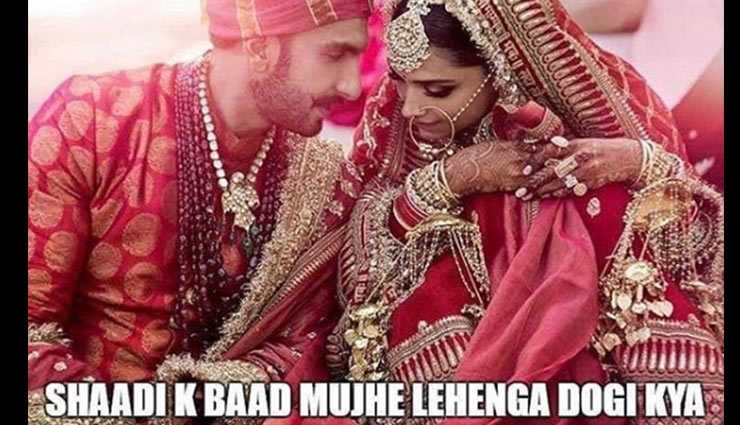Deepika Padukone-Ranveer Singh's wedding pictures spark a hilarious meme fest