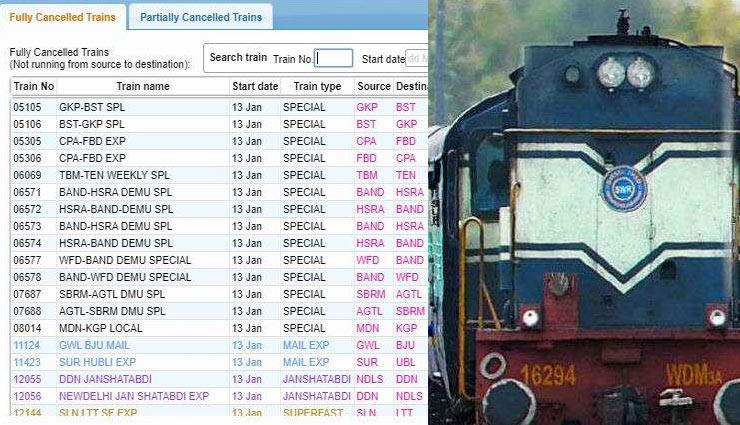 भारतीय रेलवे ने आज रद्द कीं 300 से ज्यादा ट्रेनें, देखें कहीं आपकी भी तो कैंसिल नहीं...