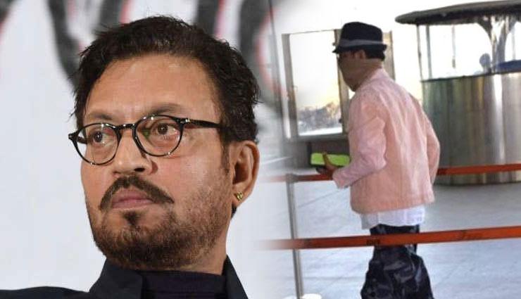 कैंसर से जूझ रहे इरफान खान लौटे भारत, 8 महीने बाद मुंबई एयरपोर्ट पर आए नजर