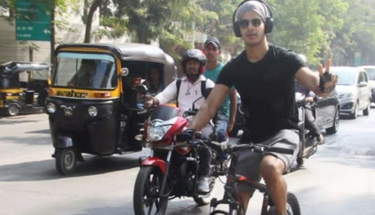 Ishaan Khatter gets trolled for being on the phone while riding a bike