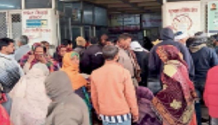 भरतपुर : अस्पताल में बच्चे की मौत पर हंगामा, पीड़ित पिता ने स्टाफ पर लगाया आरोप