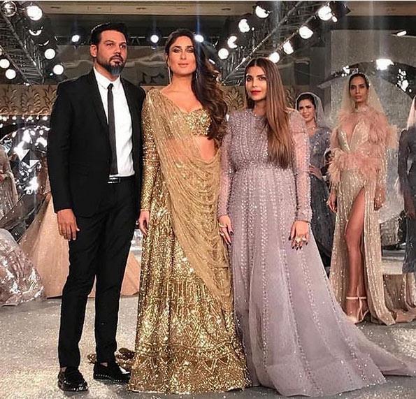 india couture fashion week 2018,Kareena Kapoor Khan,golden lehenga,shane and falguni peacock,fashion tips