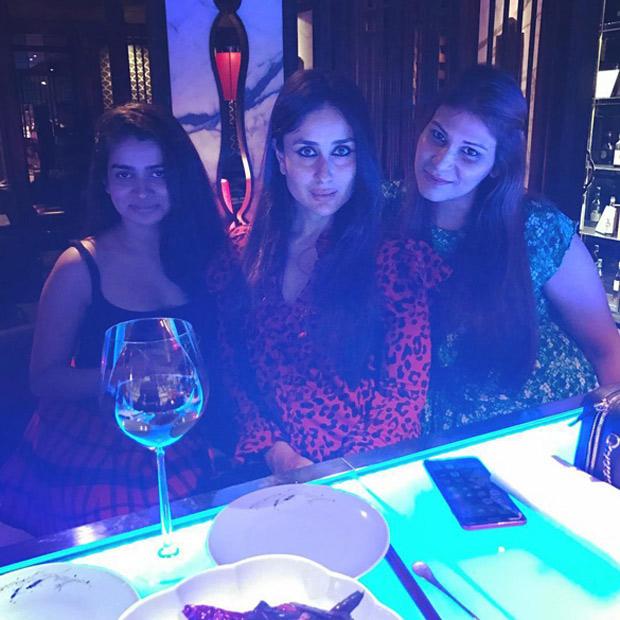 Kareena Kapoor Khan,kareena kapoor khan  partying with veeres,karisma kapoor,tanya ghavri,poonam damania,entertainment news