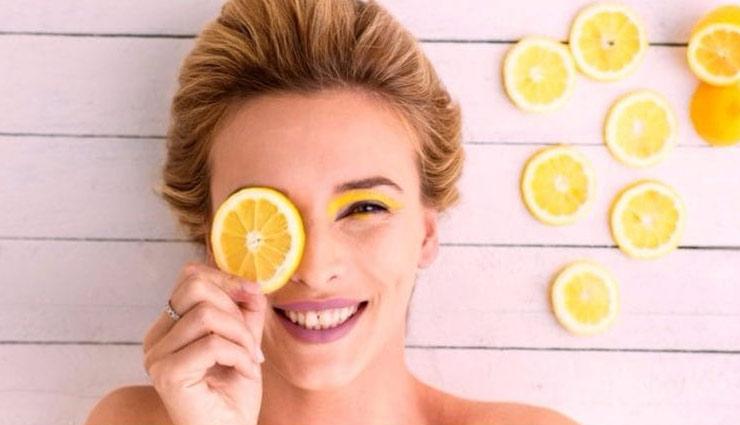 beauty tips,skin care tips,lemon benefits,lemon tips, ,ब्यूटी टिप्स, त्वचा की देखभाल, नींबू के लाभ, नींबू के तरीके, बेदाग़ त्वचा उपाय