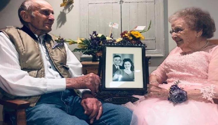 शादी की 72वीं सालगिरह मना रहा था बुजुर्ग दंपत्ति, पत्नी की ड्रेस देख भावुक हुआ पति
