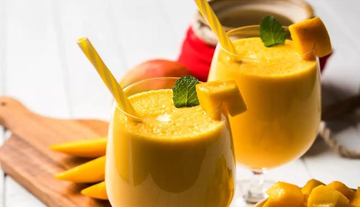 गर्मियों में स्वाद के साथ ठंडक देगी 'मैंगो मिंट लस्सी' #Recipe