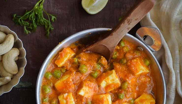 Recipe- Jain Style No Onion Garlic Matar Paneer