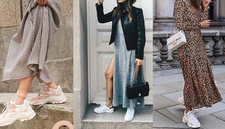 ways to pair your sneakers with anything,pairing sneakers with outfits,sneakers fashion  trends,fashion tips,fashion trends,pairing shoes with outfits,pairing sneakers with dresses