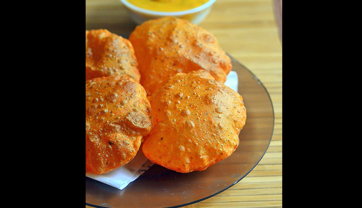 methi tomato puri,healthy recipe,puri recipe