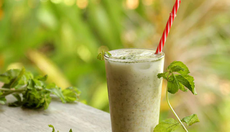 Summer Recipe- Healthy Summer Drink Salted Cucumber Mint Lassi