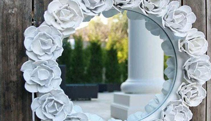 household tips,mirror design,mirror work,home decoration,decoration tips ,मिरर डिजाईन, मिरर वर्क, घर की सजावट, फूल, स्टोन, प्लास्टिक स्पून, बटन, मिरर से सजावट, घर की सजावट