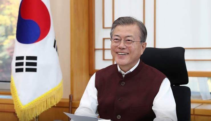 दक्षिण कोरिया के राष्ट्रपति मून को पीएम मोदी ने तोहफे में दी 'मोदी जैकेट'
