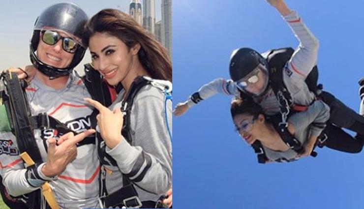 'नागिन' ने लगाई दुबई के आसमान में छलांग, देखे तस्वीरें