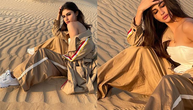 रेगिस्तान की गर्म रेत पर बैठी मौनी रॉय ने दिखाए दिलकश अंदाज, तस्वीरों ने चुरा लिया फैंस का दिल